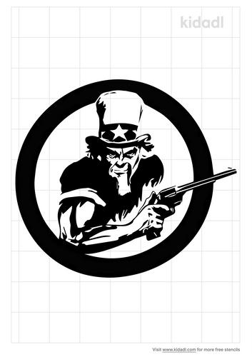 uncle-sam-holding-gun-stencil