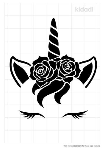 unicorn-face-stencil