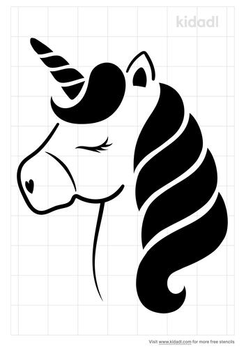 unicorn-head-stencil