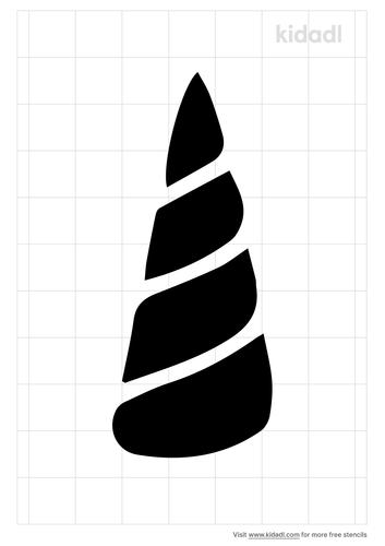 unicorn-horn-stencil
