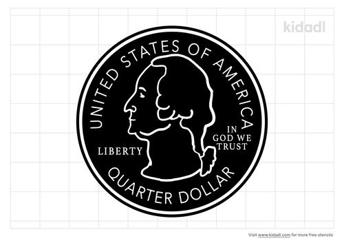 us-coin-stencil