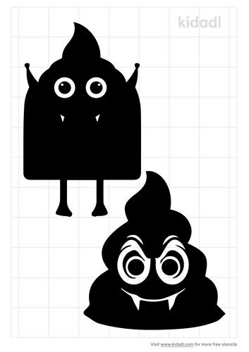 vampire-poop-emoji-stencil