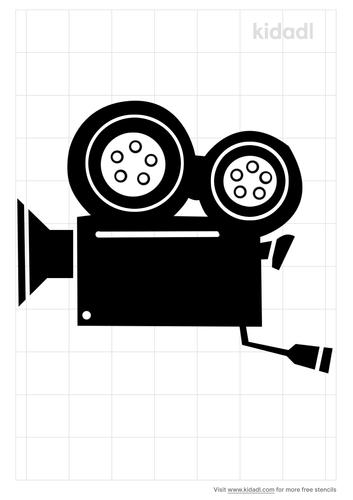 video-camera-stencil