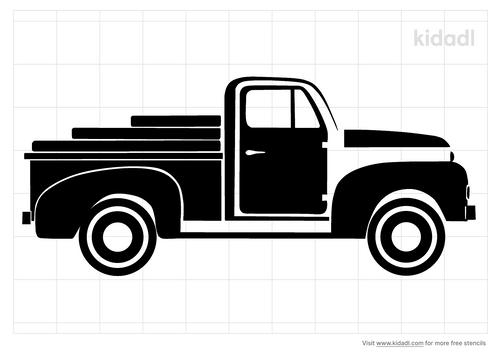 vintage-chevy-truck-stencil