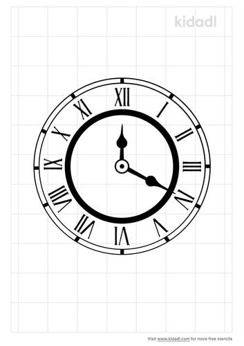 vintage-clock-stencil