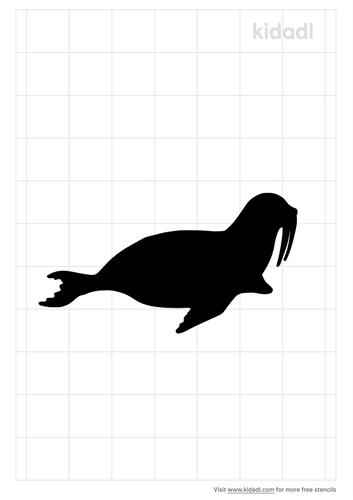 walrus-stencil