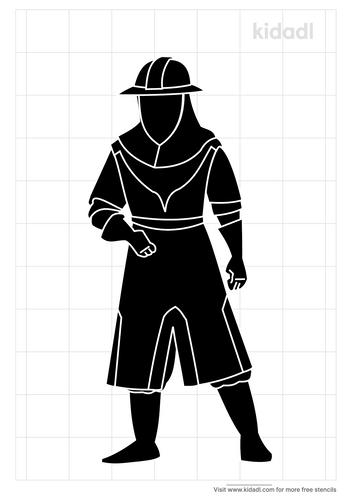 warrior-king-stencil
