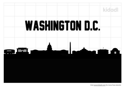 washington-dc-skyline-stencil