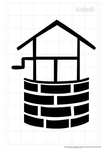 water-well-stencil