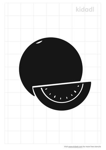 watermelon-stencil
