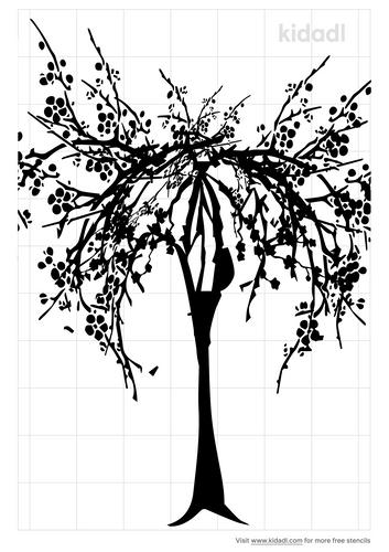 weeping-cherry-tree-stencil