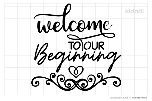 welcome-to-our-beginning-stencils
