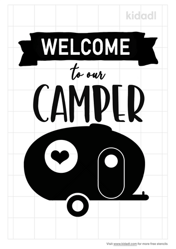 welcome-to-our-camper-stencil