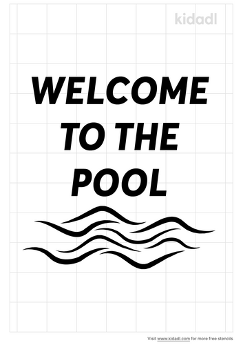 welcome-to-the-pool-stencil