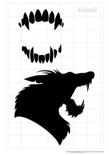 werewolf-teeth-stencil