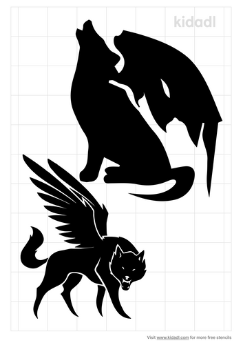 werewolf-with-wings-stencil