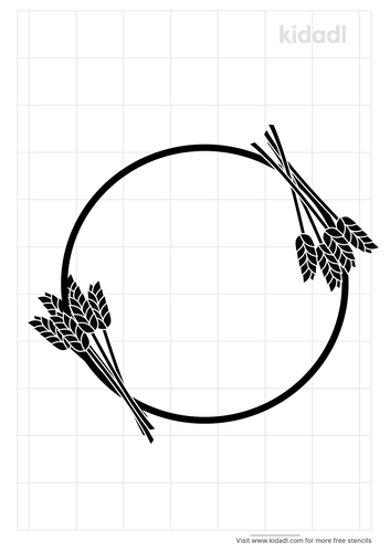 wheat-circle-stencil