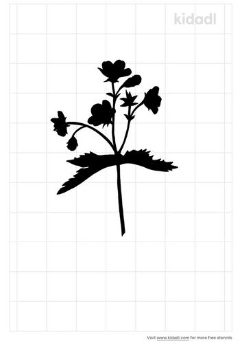 wild-geranium-stencil