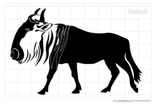 wildebeest-stencil