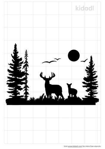 wildlife-scenery-stencil