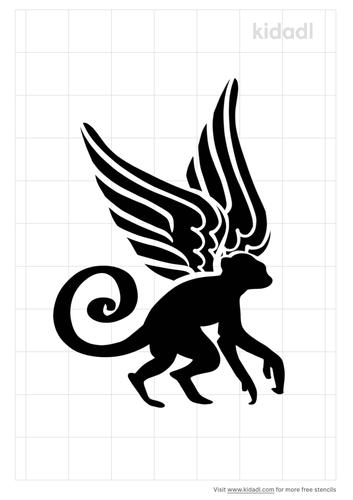 winged-monkey-stencil