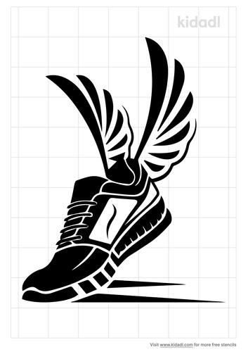 winged-shoe-stencil