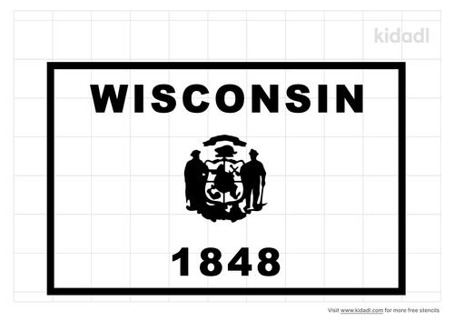 wisconsin-flag-stencil