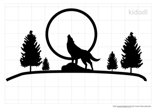 wolf-and-moon-mountain-trees-stencil