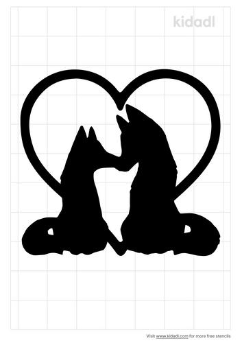 wolf-couple-stencil