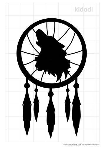 wolf-dreamcatcher-stencil
