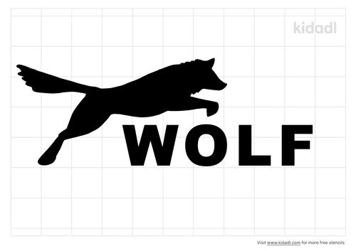 wolves-letter-stencil