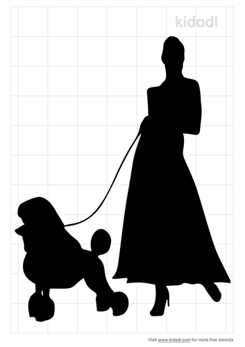 woman-with-poodle-stencil