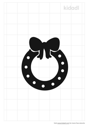 wreath-with-bow-stencil