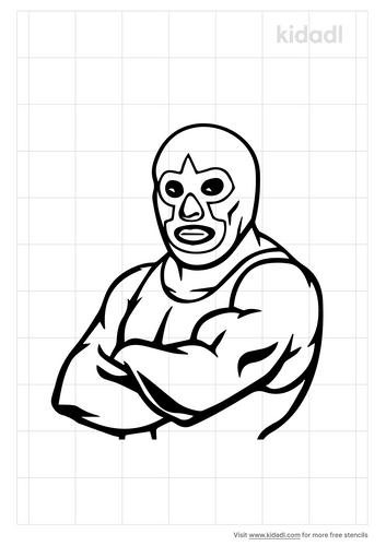 wrestler-stencil
