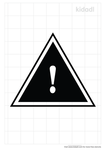 yellow-triangle-warning-stencil
