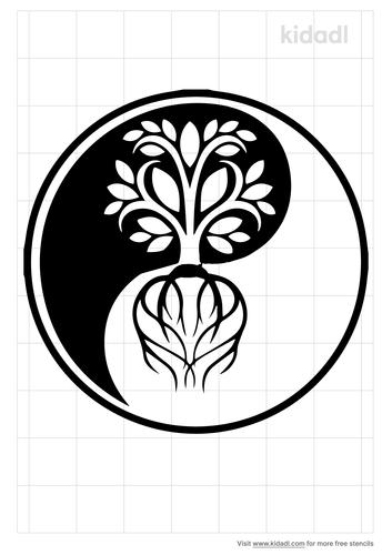 yin-yang-tree-stencil