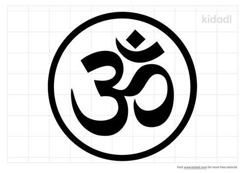 yoga-om-stencil