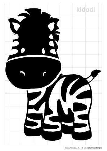 zebra-cartoon-stencil