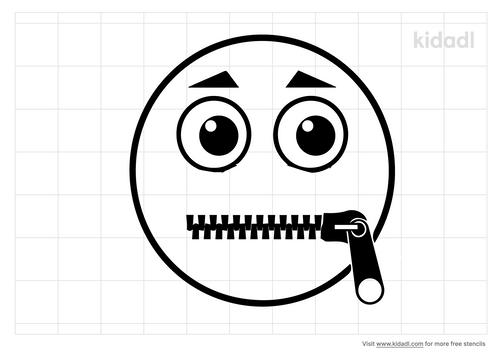 zipped-mouth-stencil